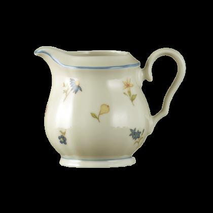 Marie-Luise Milchkännchen 0,12 l für 2 Personen Streublume blauer Rand