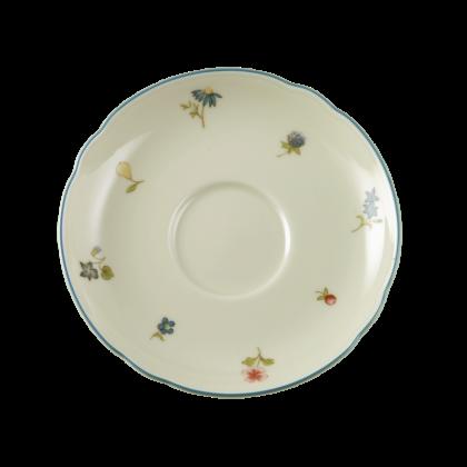 Marie-Luise Untertasse zur Teetasse 13 cm Streublume blauer Rand