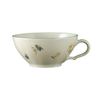 Marie-Luise Teetasse 0,14 l Streublume blauer Rand