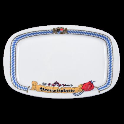"1/2 Dick Platte oval ""Brotzeitplatte"" 33 cm Bayern"