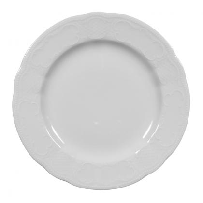 Salzburg Teller flach 25 cm weiß