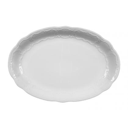 Salzburg Platte oval 31 cm weiß
