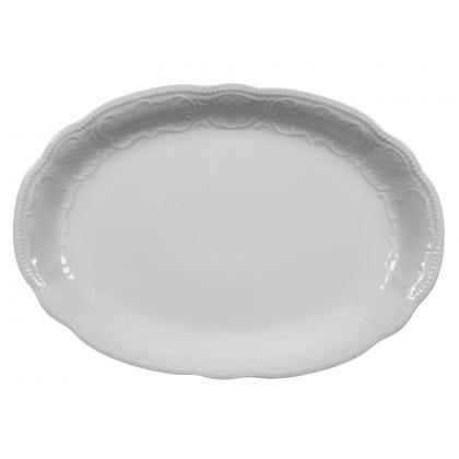 Salzburg Platte oval 38 cm weiß