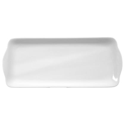 Compact Kuchenplatte eckig 35 cm weiß