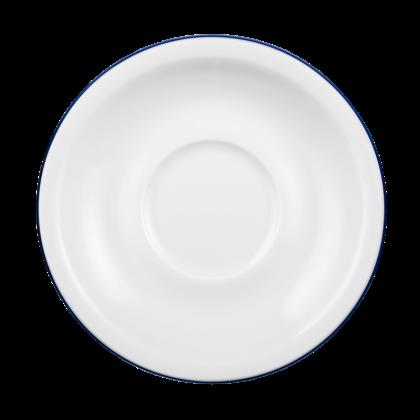 Compact Untertasse zur Kaffeetasse 14,5 cm Blaurand