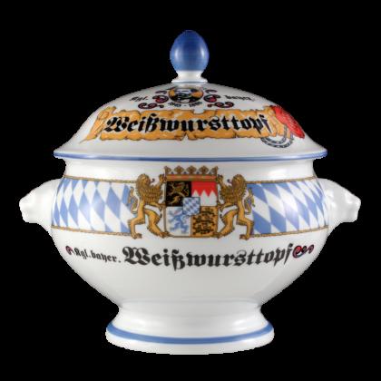 """Compact Terrine Löwenkopf mit Deckel """"Weißwursttopf"""" 2,00 l Bayern"""