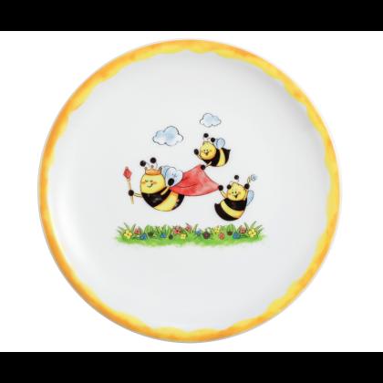 Compact Frühstücksteller rund 19 cm Fleißige Bienen