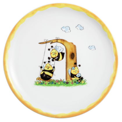 Compact Speiseteller rund 25,5 cm Fleißige Bienen