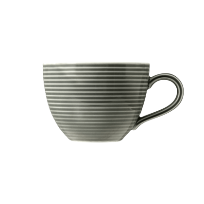 Beat Kaffeetasse 0,26 l mit Relief Color Glaze Perlgrau