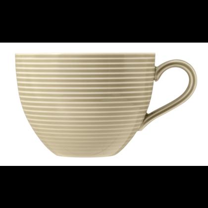 Beat Milchkaffeetasse 0,35 l mit Relief Color Glaze Sandbeige