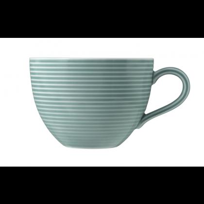 Beat Milchkaffeetasse 0,35 l mit Relief Color Glaze Arktisblau