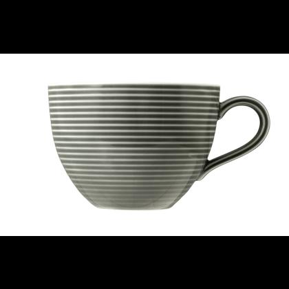 Beat Milchkaffeetasse 0,35 l mit Relief Color Glaze Perlgrau