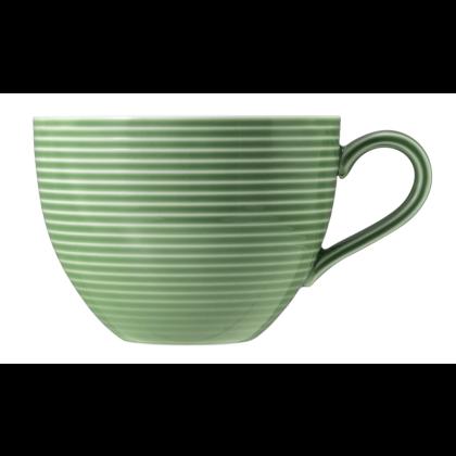 Beat Milchkaffeetasse 0,35 l mit Relief Color Glaze Salbeigrün