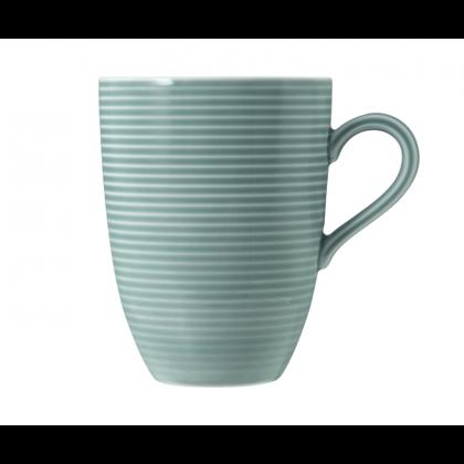Beat Becher mit Henkel 0,35 l mit Relief Color Glaze Arktisblau