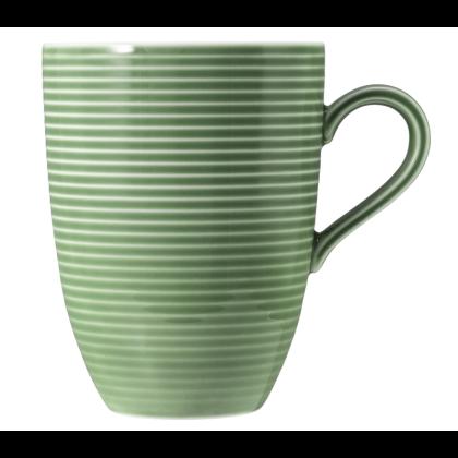 Beat Becher mit Henkel 0,35 l mit Relief Color Glaze Salbeigrün