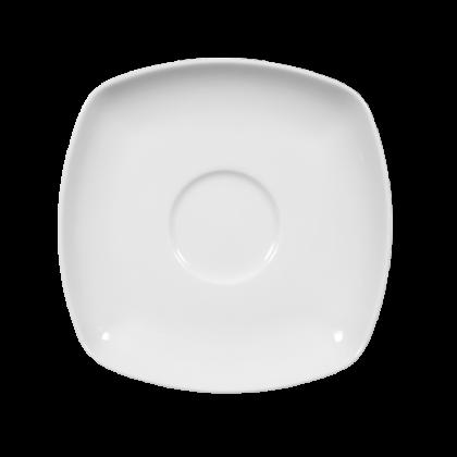 Sketch Basic Kaffee-/Tee-Untertasse eckig 14,5 cm weiß