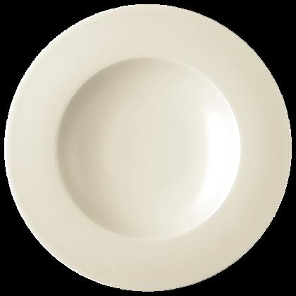 Diamant Pastateller tief 30 cm cream