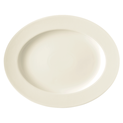 Diamant Platte oval 33 cm cream