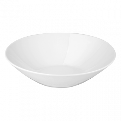 Meran Gourmetschale tief Organic 20 cm weiß