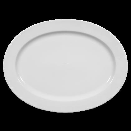 Meran Platte oval 35 cm weiß