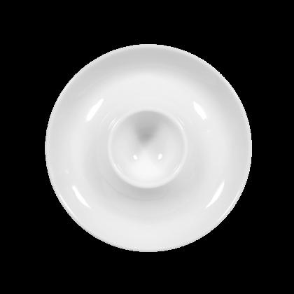 Rondo / Liane Eierbecher mit Ablage weiß