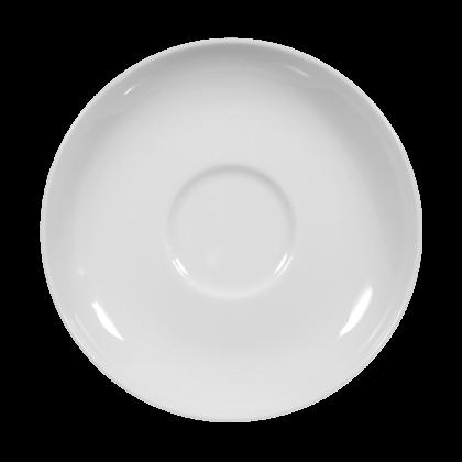 Rondo Untertasse zur Kaffeetasse 14,5 cm weiß