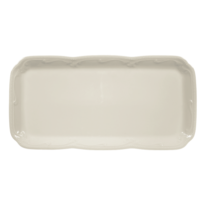 Rubin Kuchenplatte eckig 35 cm cream