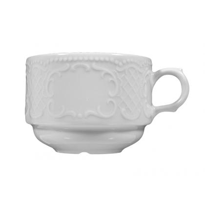 Salzburg Milchkaffeetasse weiß