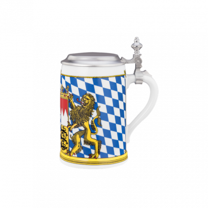 Compact Bierkrug mit Deckel 0,63 l Bayern