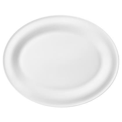 Beat Servierplatte oval 35x28 cm weiß