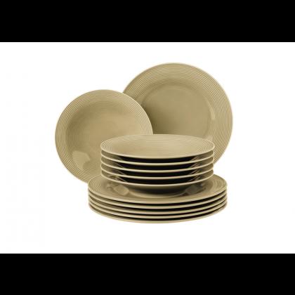 Beat Tafelservice 12-teilig BT Glaze Sandbeige