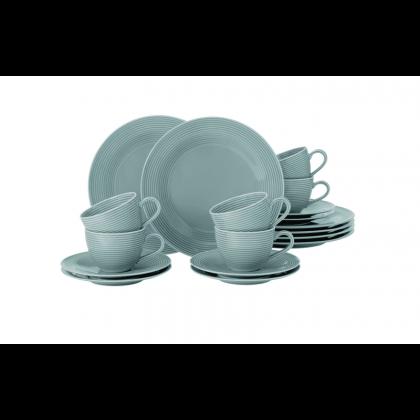 Beat Kaffeeservice 18-teilig Color Glaze Arktisblau