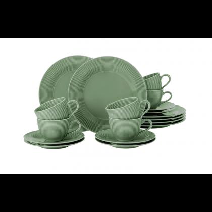 Beat Kaffeeservice 18-teilig BTR Glaze Salbeigrün