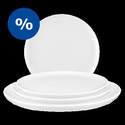 No Limits Sparset Platten/ Deckel weiß - 4 für 3