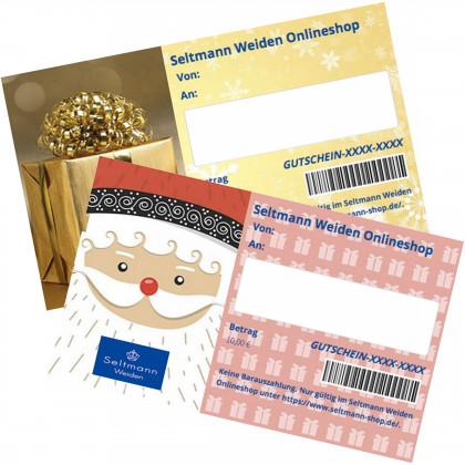 Geschenkgutschein Weihnachten / Winter zum Drucken