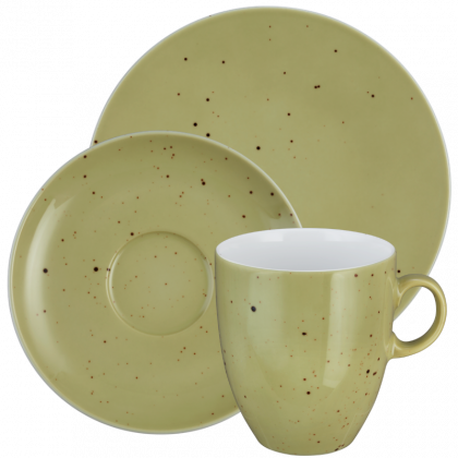 Coup Fine Dining Kaffeeservice hohe Tassen 18-teilig Country Life oliv