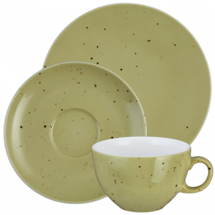 Coup Fine Dining Kaffeeservice tiefe Tassen 18-teilig Country Life oliv