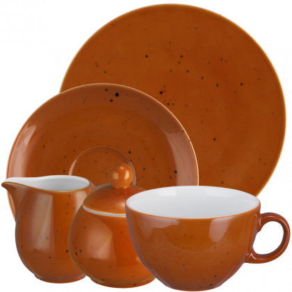 Coup Fine Dining Kaffeeservice tiefe Tassen 20-teilig Country Life terracotta