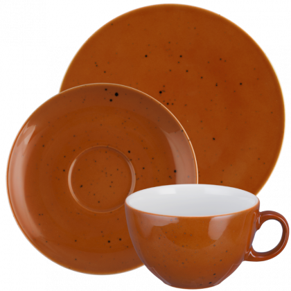 Coup Fine Dining Kaffeeservice tiefe Tassen 18-teilig Country Life terracotta