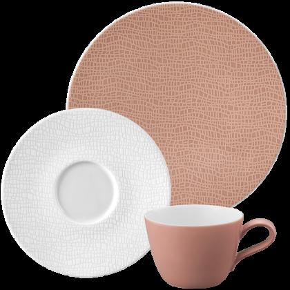Life Kaffee-Set für 2 Personen Posh Rose & Luxury White