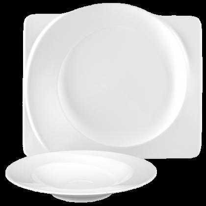 Paso Tafelservice 12-teilig eckig weiß