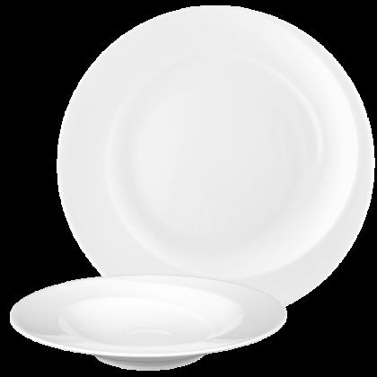 Paso Tafelservice 12-teilig rund weiß