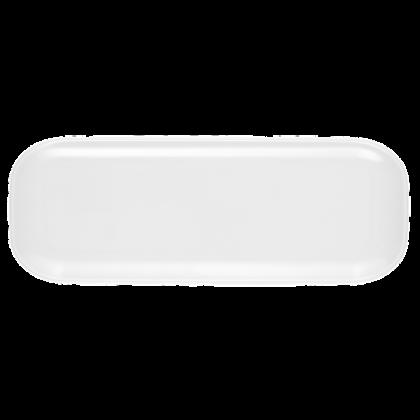 No Limits Platte eckig 36 cm x 12 cm weiß