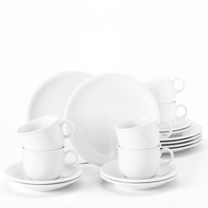 Compact Kaffeeservice 18-teilig weiß