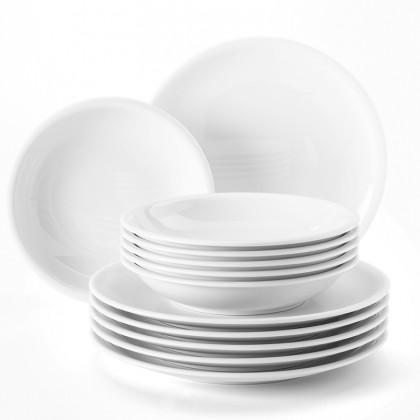 Compact Tafelservice 12-teilig weiß