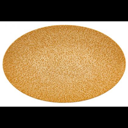 Life Servierplatte oval 40x26 cm Molecule Amber Gold