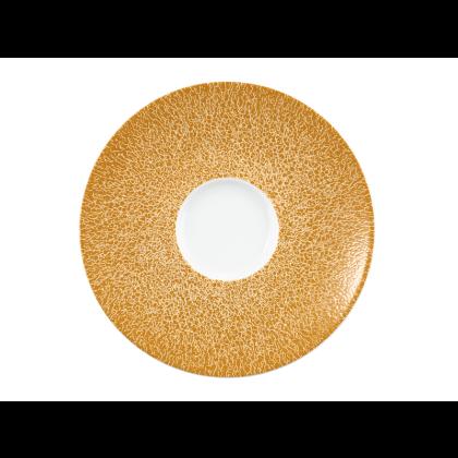 Life Kombi-Untertasse 13,5 cm Molecule Amber Gold