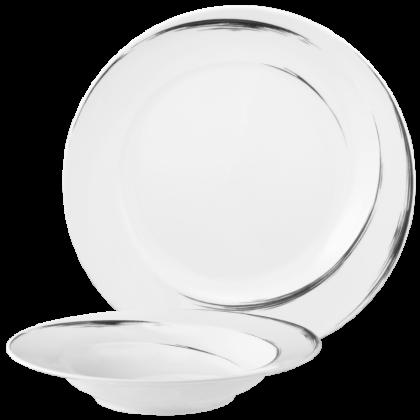 Paso Tafelservice 12-teilig F rund Grey Brush