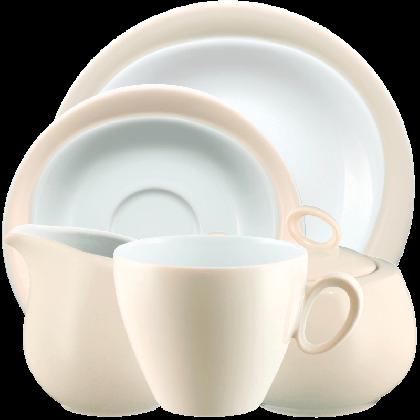 Trio Kaffeeservice 20-teilig Vanille
