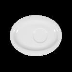 Top Life Untertasse oval 16 cm weiß